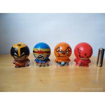 4 Cabezones De Marvel Wolverine Cíclope Mole Daredevil Md18