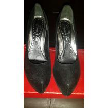Zapatos Dama Cuero 100% Saverio Di Ricci Negros