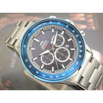 Relógio Orient Cronógrafo Quartzo Preto Pvd Myssc002