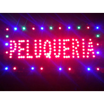 Cartel Led Peluqueria Kiosco Café Remis Bar Sube 48 X 25 Cm