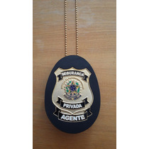 Distintivo Segurança Privada Agente, Vigilante, Couro