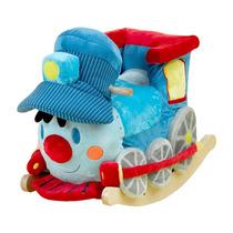 Tren Trax Montable Mecedor Infantil Niño Madera Musica Azul