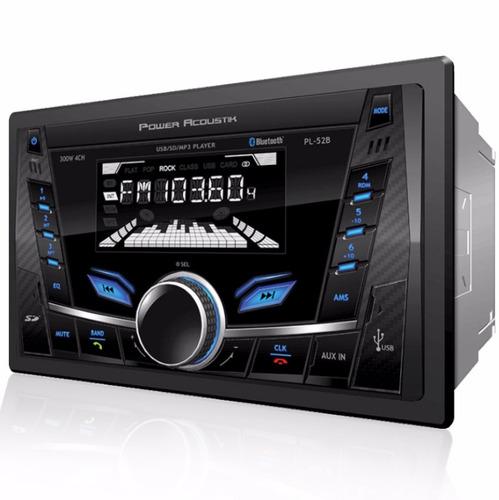 Autoestereo Power Acoustik Pl-52b Bluetooth 2 Din = Alpine - $ 1,679.00 en Mercado Libre