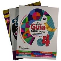 Pack Guía Santillana 4 En Pocas Palabras + Matemáticas Genia