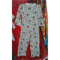 Pijamas De Algodón Para Niños Y Niñas Estampados Y Unicolor