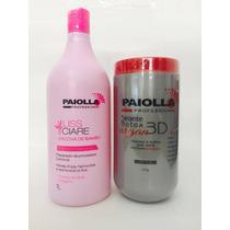 Btx Argan 3d 6 Em 1 Paiolla + Shampoo Bambu Paiolla 1 L