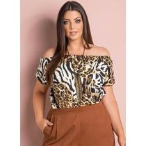 Blusa Plus Size Feminina - Tomara Que Caia - Nº 46 A 60