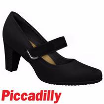 Sapato Boneca Piccadilly Conforto Salto 7 Cm 130177