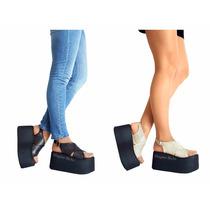 Sandalias Zapatos Mujer Taco Palo Primavera Verano 2017