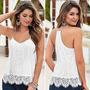 Bella Blusa Camiseta Dama Casual De Encaje Importada M Y L