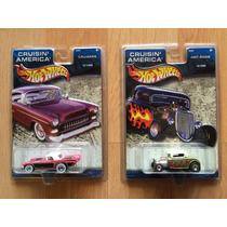 Set De 2 Autos Hot Wheels Cruisin America T-bird Ford 32 .