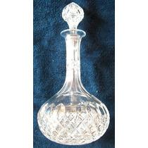 Botellón Vintage - Cristal Tallado A Mano Con Tapón - 1950