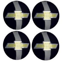 Kit C/4 Emblemas Aluminio P/ Calota 50mm D-10
