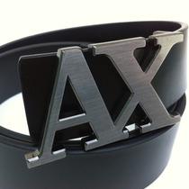 Cinto Armani Exchange Ax Masculino Em Couro Lançamento