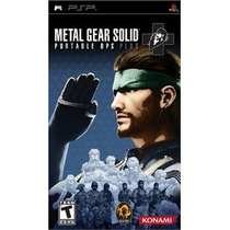 Metal Gear Solid Portable Ops Plus Psp -- Mannygames