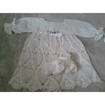 Vestido De Croche Para Bebê E Batizado