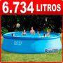Pileta De Lona Intex 366 X 91 Cm - 6734 Lts Combo Especial!!