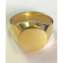 Labelejoias Anel Masculino Oval Forrado Liso Ouro 18k 750.