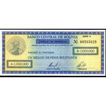 Bolivia 1000000 Bolivianos,año 1985,bono-cheque Sin Circular