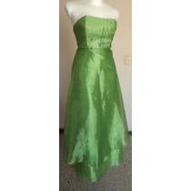 Talla-3 Jessica Mcclintock Lindo Vestido Color Limón! Vst957