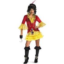 Disfraz De Pirata Capitan Garfio Peter Pan Para Damas