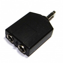 Plug Adaptador 2 P10 Jack Femea P/1 P2 Mono Macho Frt R$7,00