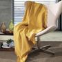 Manta P Sofá Cama Dohler 120x150cm 100% Algodão Amarelo Gold