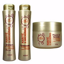 Kit 6 Shampoo 6 Condicionador 6 Máscara Karite Frete Grátis