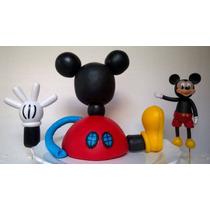 Casa De Mickey Mouse Adorno De Torta Porcelana Fria