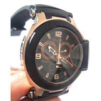 Relógio Tissot Rosê Preto Prc200 1853 100% Funcional 12x
