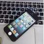 Capa Case Iphone 4 4s Proteção 360 + Pelicula Somente Preta