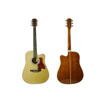 Guitarra Texana C/corte Madera De Maple Con Cuerdas De Acero