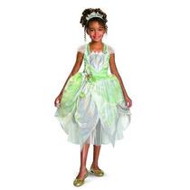 Disfraz Para Niña Princesa Tiana Traje De Lujo Del Reflejo