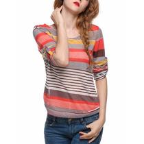 128 Colorida Blusa Juevenil Casual Lindo Diseño