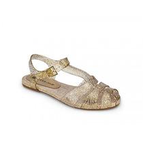 Sandália Petite Jolie - Glitter Ouro - Pj1508