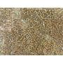 Miçanga Dourada Transparente Injetada - 500g - Atacado