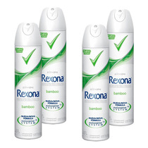 Desodorante Rexona Mujer Aerosol Bamboo X4