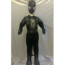 Disfraz Tipo Venom Spiderman Hombre Araña Negro