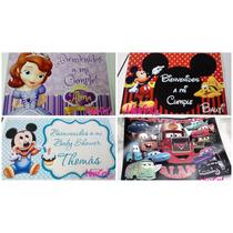 Cartel Bienvenidos Personalizados - Cumpleaños - Candy Bar
