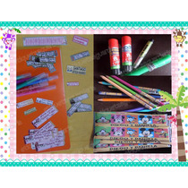 100 Etiquetas Escolares Cuadernos Lapices Libros Libreta