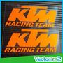 Ktm 2 Calcomanias Stickers Logos Ktm Moto Alta Calidad (par)