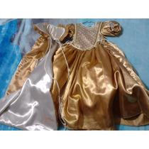 Hermoso Vestido De Fiesta O Disfraz Color Oro Talla 2-3