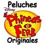 Phineas & Ferb + Perry Peluches Originales De Disney