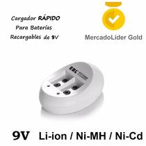 Cargador Portatil Para 2 Pilas/baterias 6f22 Recargables 9v