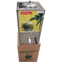 Torre Gela Coco Inox Coqueira Com Serpentina Furador Manual
