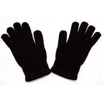 Luva Inverno Frio Masculina Adulto Lã Preta