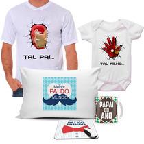Kit Homem De Ferro Melhor Pai Do Mundo