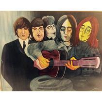 Obra La Transformación De Lennon. Acuarela.