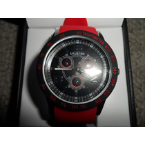 Reloj Marca Unlisted Kenneth Cole Rojo Estilo Aviador Vbf