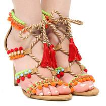 Sandália Salto Fino Cecconello Amarração 968014 | Zariff